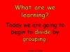 Beginning to Divide - Grouping (slide 2/23)